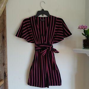 Betsey Johnson  winged sleeve dress S